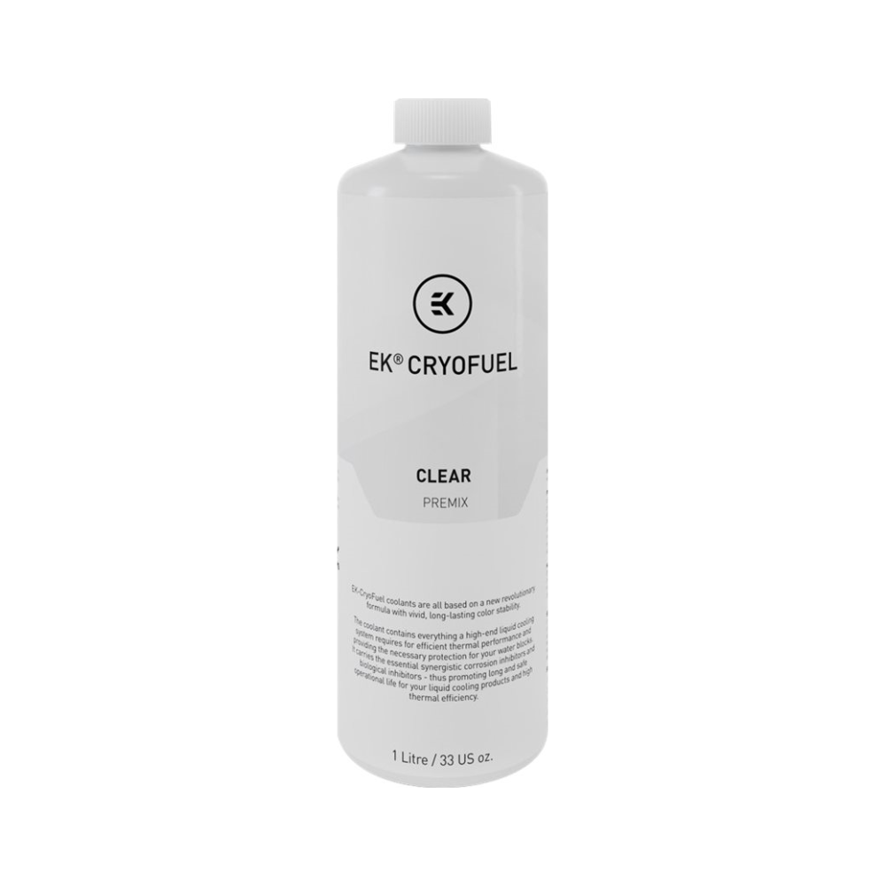A large main feature product image of EK CryoFuel Clear 1L Premix Coolant