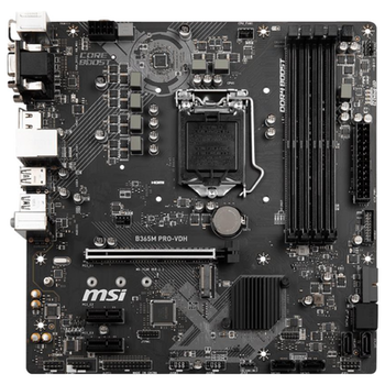 Product image of MSI B365M PRO-VDH LGA1151-CL mATX Desktop Motherboard - Click for product page of MSI B365M PRO-VDH LGA1151-CL mATX Desktop Motherboard