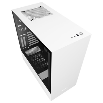 Product image of NZXT H510i Matte White Smart Mid Tower Case w/Tempered Glass Side Panel - Click for product page of NZXT H510i Matte White Smart Mid Tower Case w/Tempered Glass Side Panel