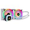 A product image of Corsair Hydro H100i RGB Platinum SE White 240mm AIO Liquid CPU Cooler