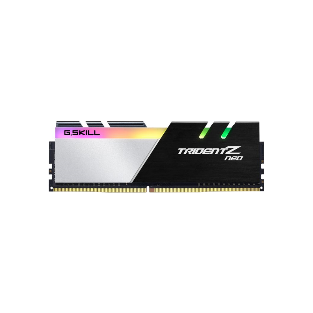 A large main feature product image of G.Skill 32GB Kit (4x8GB) DDR4 Trident Z RGB Neo C18 3600Mhz