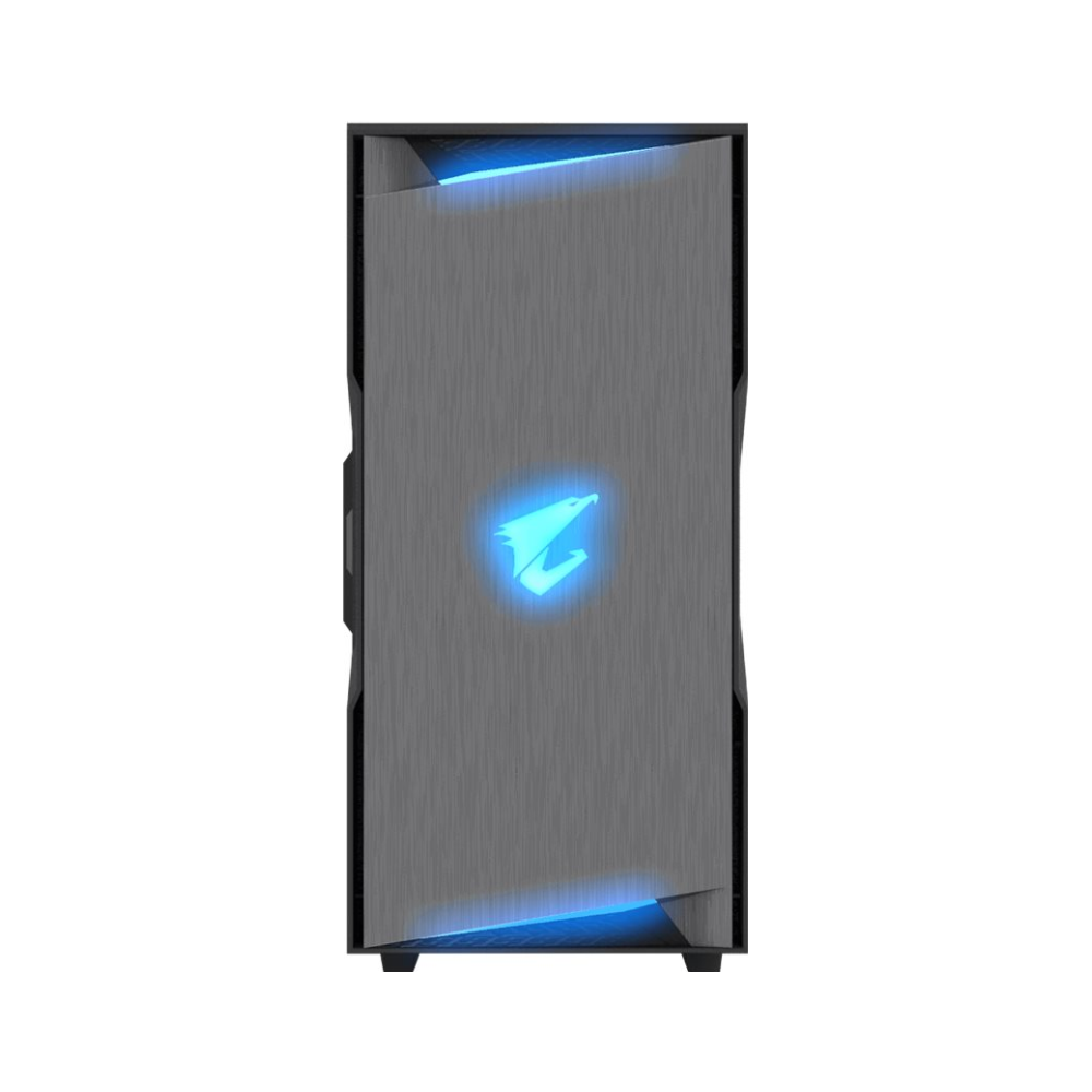A large main feature product image of Gigabyte AC300G ATX Mid Tower Case w/ Tempered Glass Side Panel