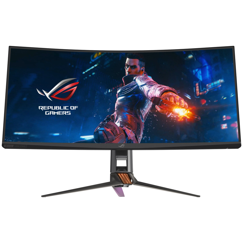 """A large main feature product image of ASUS ROG Swift PG35VQ 35"""" Ultrawide QHD G-SYNC Curved 200Hz 4MS (2MS OC) HDR1000 VA QLED Gaming Monitor"""