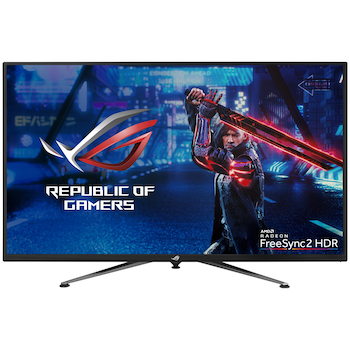 "Product image of ASUS ROG Strix XG438Q 43"" 4K UHD FreeSync 2 120Hz 4MS HDR600 VA LED Gaming Monitor - Click for product page of ASUS ROG Strix XG438Q 43"" 4K UHD FreeSync 2 120Hz 4MS HDR600 VA LED Gaming Monitor"