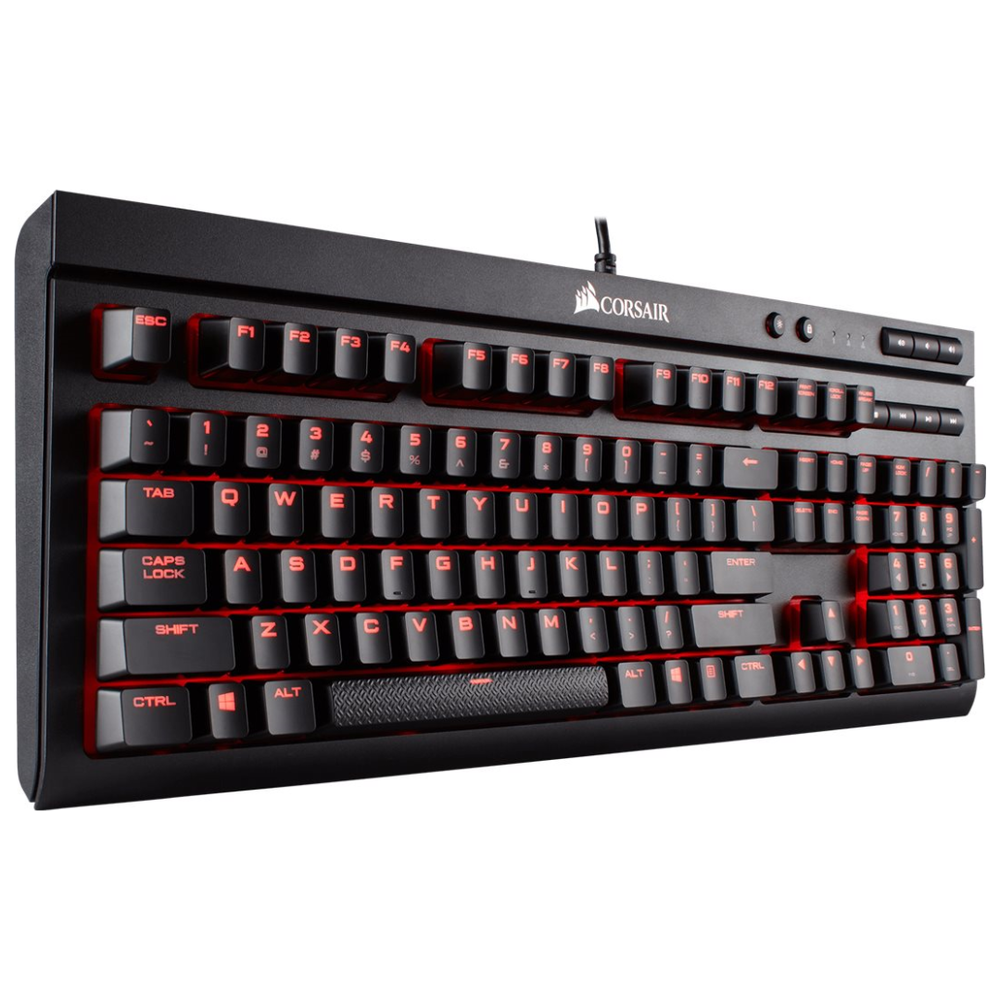 A large main feature product image of Corsair Gaming K68 Red Mechanical Keyboard (MX Red Switch)