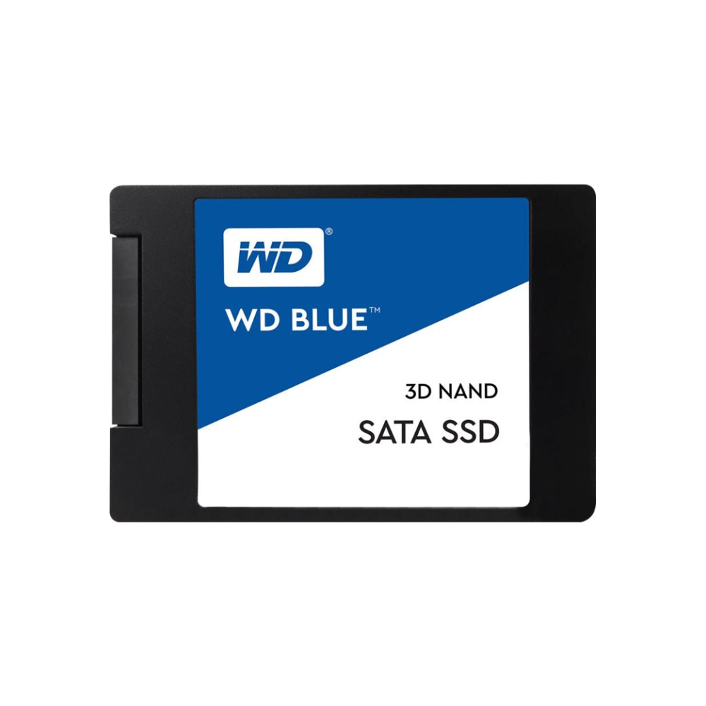 "A large main feature product image of WD Blue 4TB 3D NAND 2.5"" SSD"