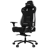 A product image of Vertagear Racing Series P-Line PL4500 Coffee Fiber with Silver Embroirdery Gaming Chair Black/White Edition(LED/RGB Upgradable)