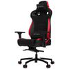 A product image of Vertagear Racing Series P-Line PL4500 Coffee Fiber with Silver Embroirdery Gaming Chair Black/Red Edition(LED/RGB Upgradable)