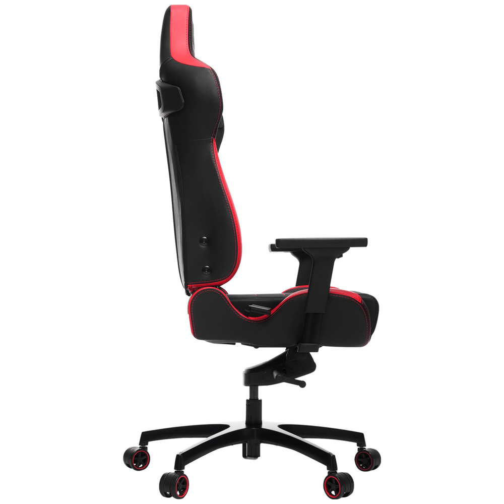A large main feature product image of Vertagear Racing Series P-Line PL4500 Coffee Fiber with Silver Embroirdery Gaming Chair Black/Red Edition(LED/RGB Upgradable)