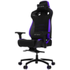A product image of Vertagear Racing Series P-Line PL4500 Coffee Fiber with Silver Embroirdery Gaming Chair Black/Purple Edition(LED/RGB Upgradable)
