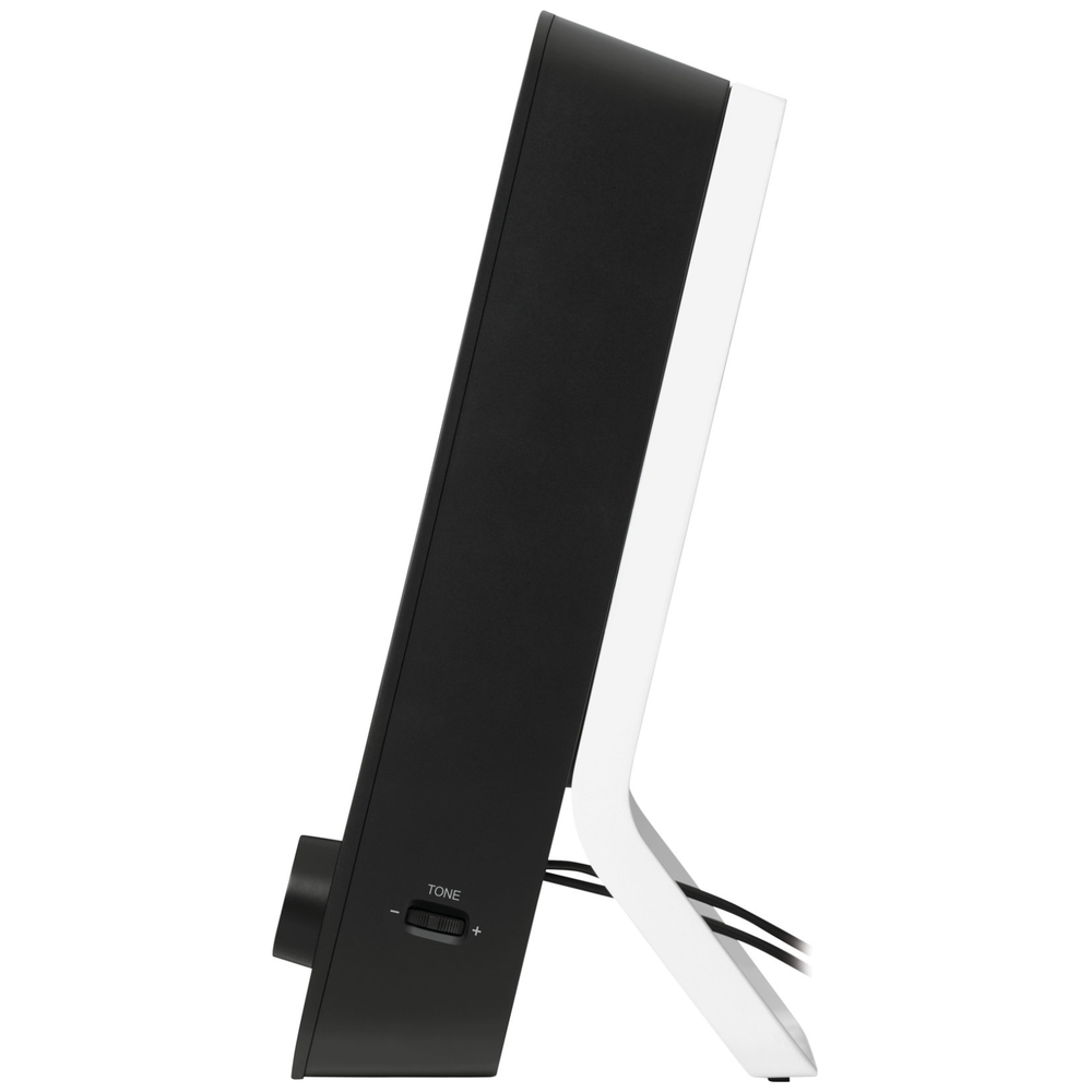 A large main feature product image of Logitech Z200 Multimedia Speakers - Midnight Black