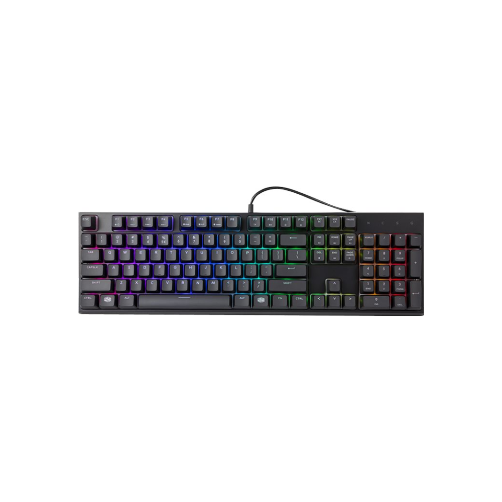 A large main feature product image of Cooler Master MasterSet MS121 Independent-RGB Keyboard/Mouse Combo Kit