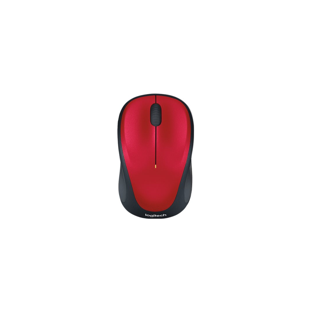 A large main feature product image of Logitech M235 Wireless Mouse Red