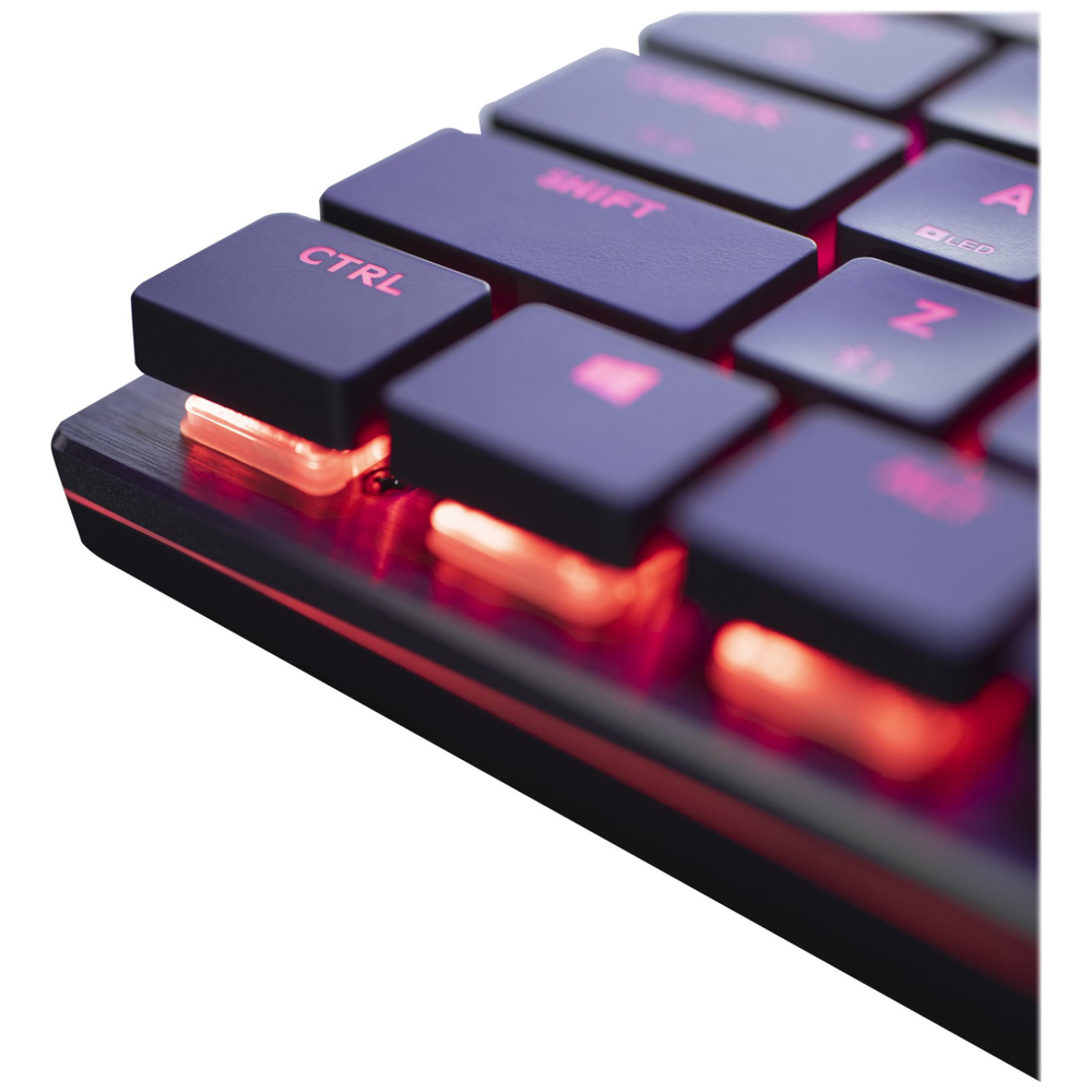 A large main feature product image of Cooler Master MasterKeys SK621 RGB Mechanical Keyboard (MX Low Profile Red)