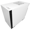 A product image of NZXT H210i Matte White Smart mITX Case w/ Side Panel Window