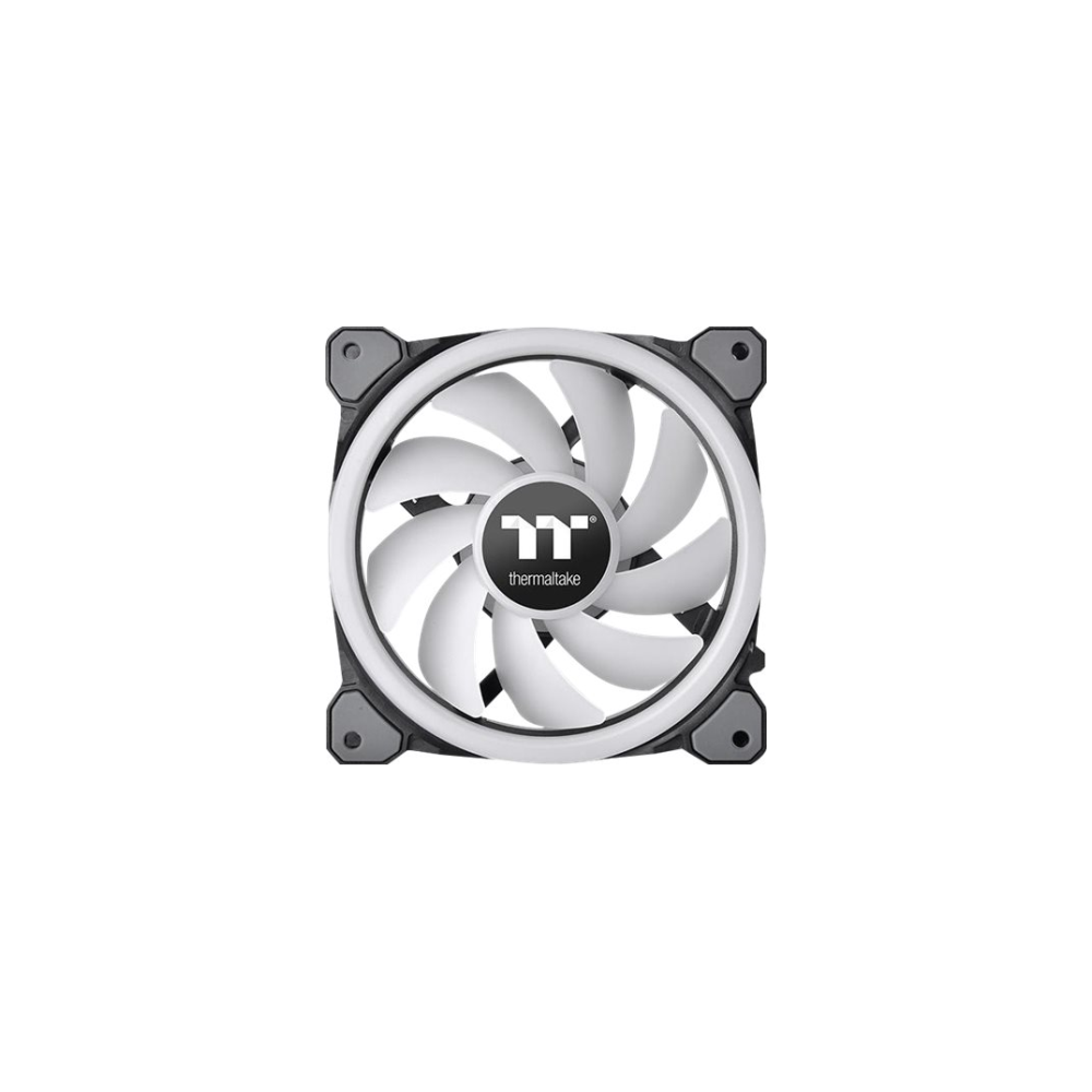 A large main feature product image of Thermaltake Riing Trio 12 LED RGB Radiator Fan TT Premium Edition (3-Fan Pack)