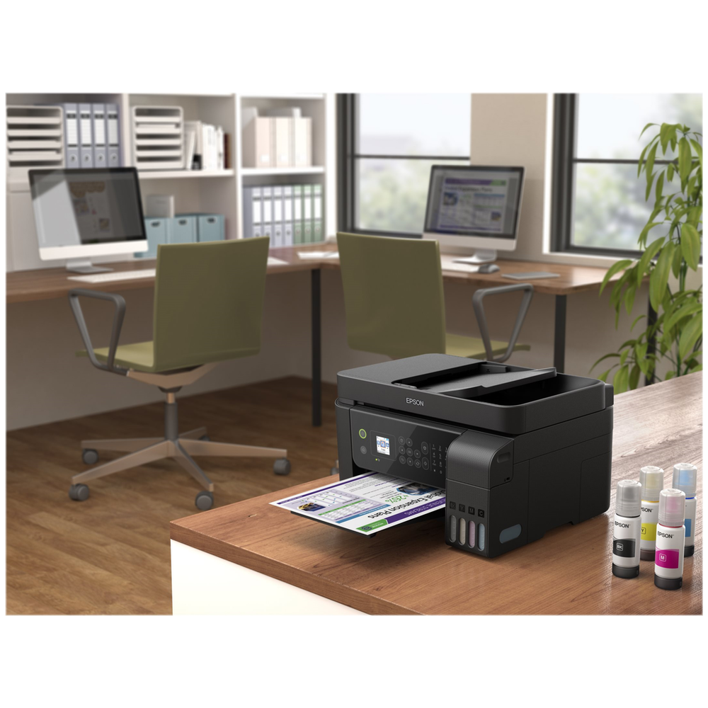 A large main feature product image of Epson WorkForce ET-4700 EcoTank Multifunction Printer