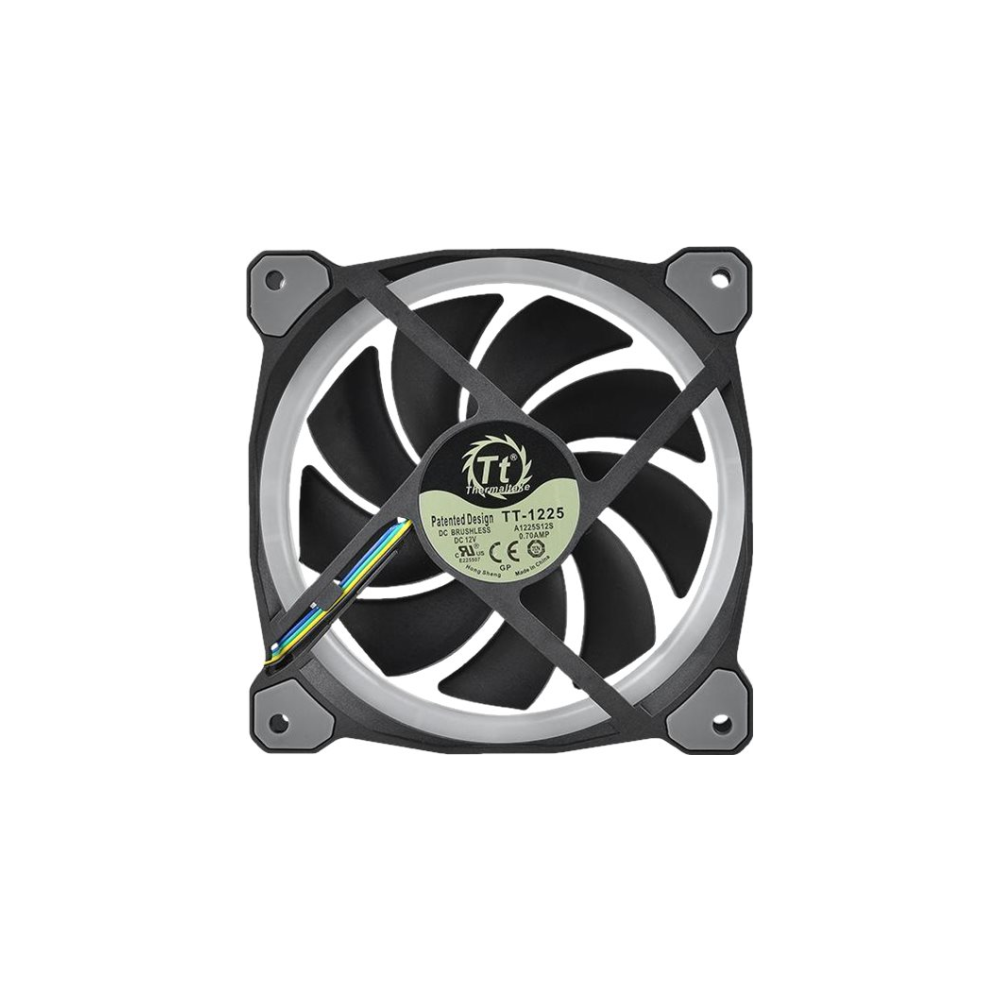 A large main feature product image of Thermaltake Riing Plus 5 Pack 120mm RGB LED Premium Edition Fans w/ Controller