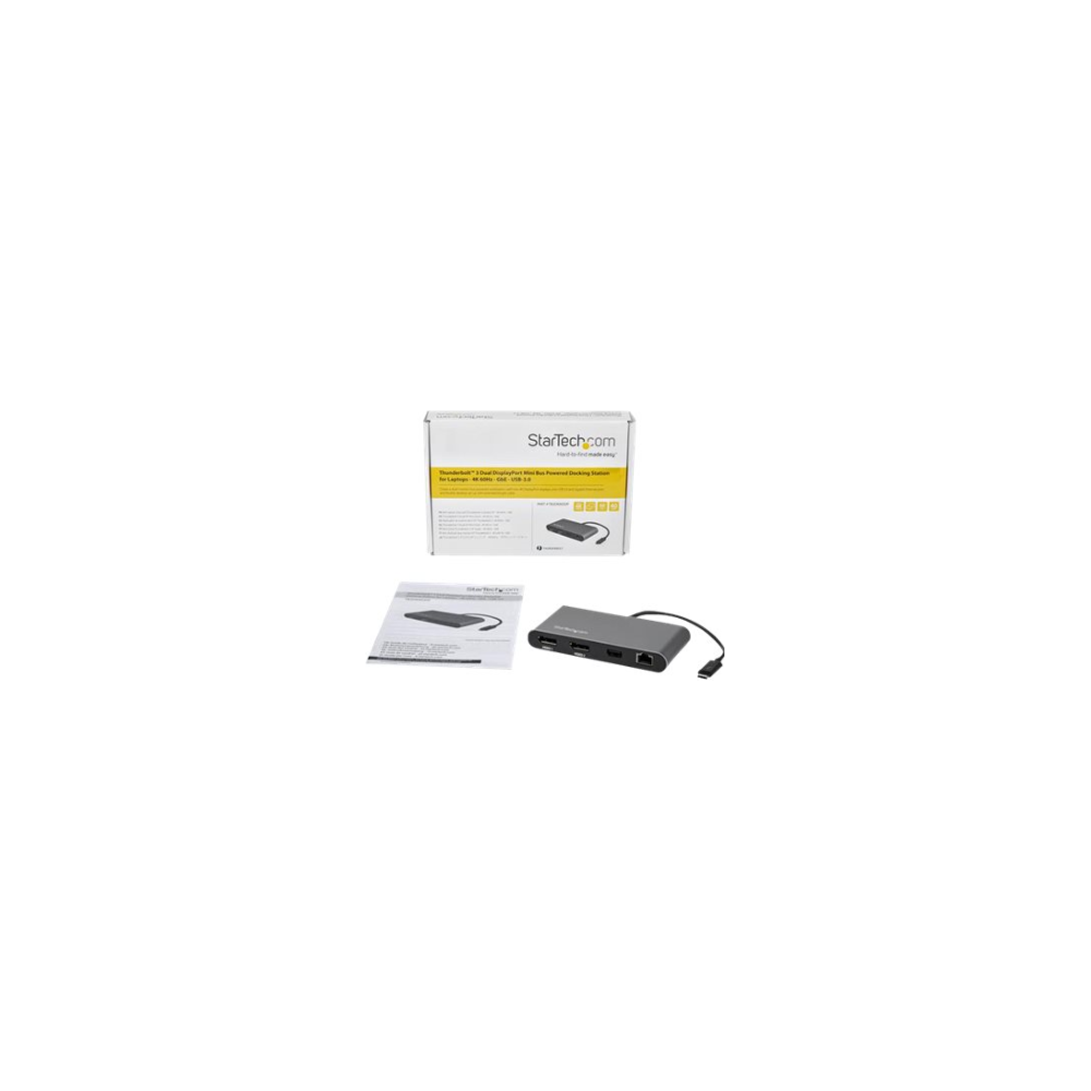 A large main feature product image of Startech Mini Thunderbolt 3 Dock - Dual 4K 60Hz - DisplayPort