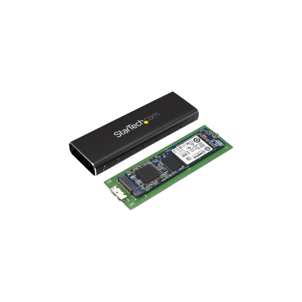 A large main feature product image of Startech External USB 3.0 SATA M.2 SSD Enclosure