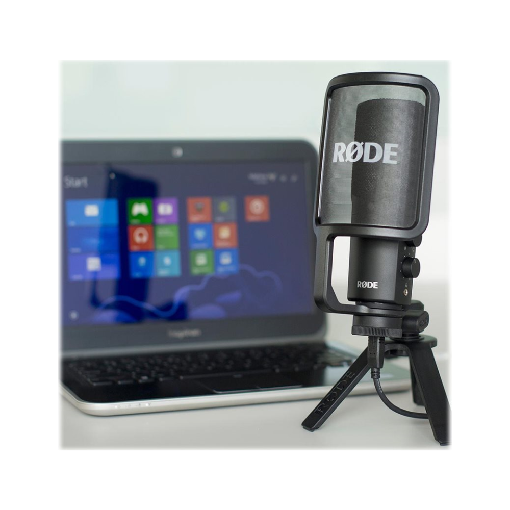 A large main feature product image of RODE USB Condenser Mic
