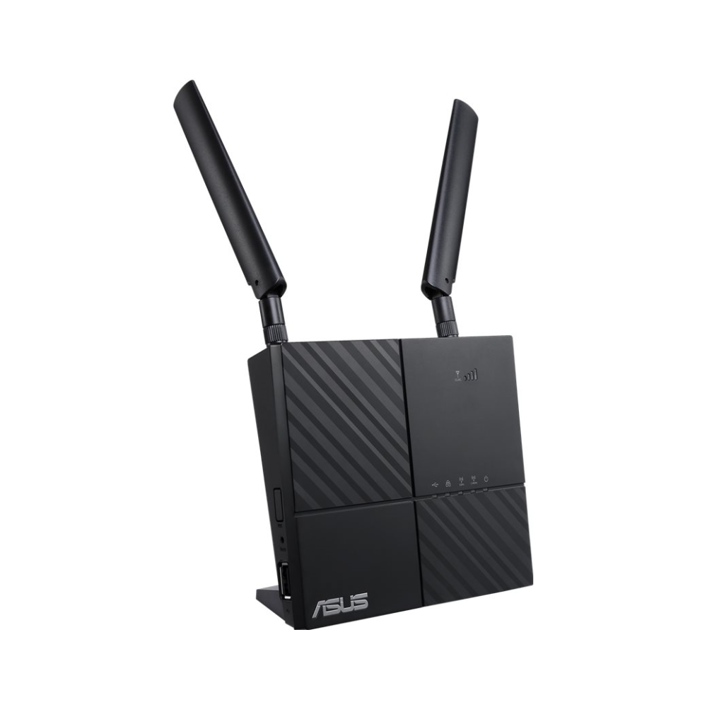 A large main feature product image of ASUS 4G-AC53U 802.11ac Dual-Band Wireless-AC750 Gigabit 4G Modem Router