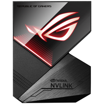 Product image of ASUS ROG Aura NVLink 3-Slot Bridge - Click for product page of ASUS ROG Aura NVLink 3-Slot Bridge