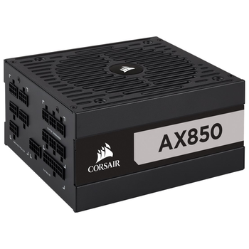 Product image of Corsair AX850 850W 80PLUS Titanium Modular Power Supply - Click for product page of Corsair AX850 850W 80PLUS Titanium Modular Power Supply