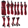 A product image of Corsair Premium Individually Sleeved Pro Cables Kit Type 4 Gen 4 - Red/Black