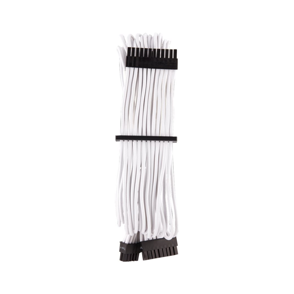 A large main feature product image of Corsair Premium Individually Sleeved Pro Cables Kit Type 4 Gen 4 - White