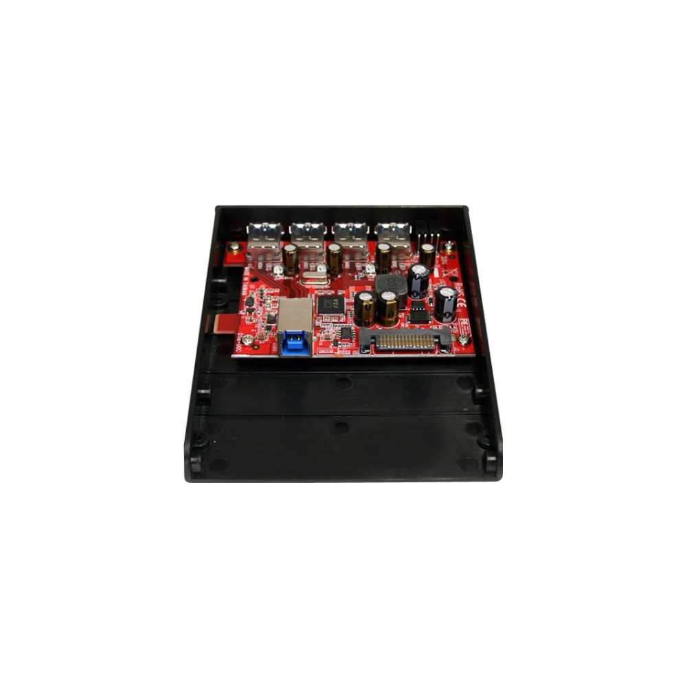 A large main feature product image of Startech USB 3.0 Front Panel 4 Port Hub - 3.5 5.25in Bay