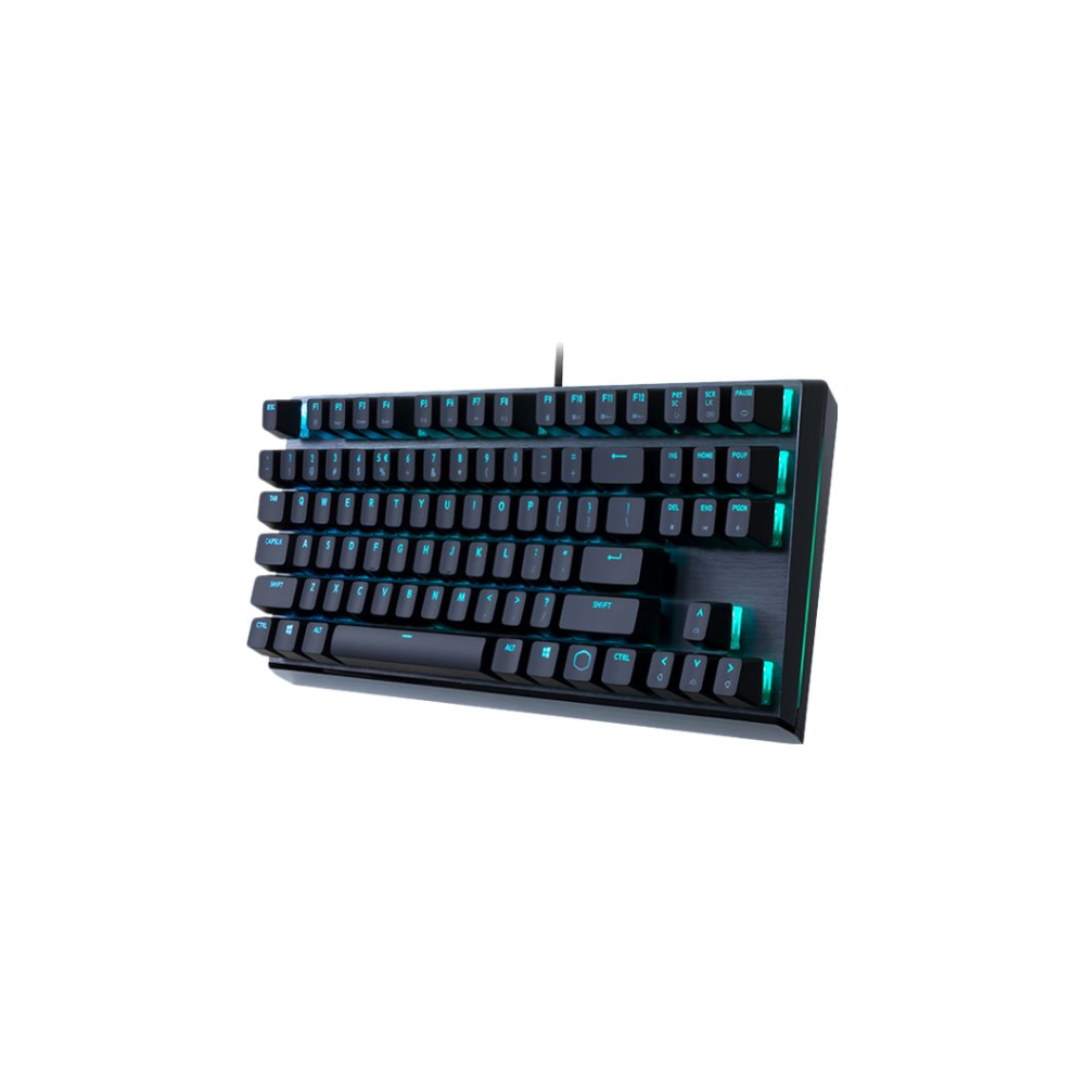 A large main feature product image of Cooler Master MasterKeys MK730 RGB Mechanical TKL Keyboard (MX Brown)