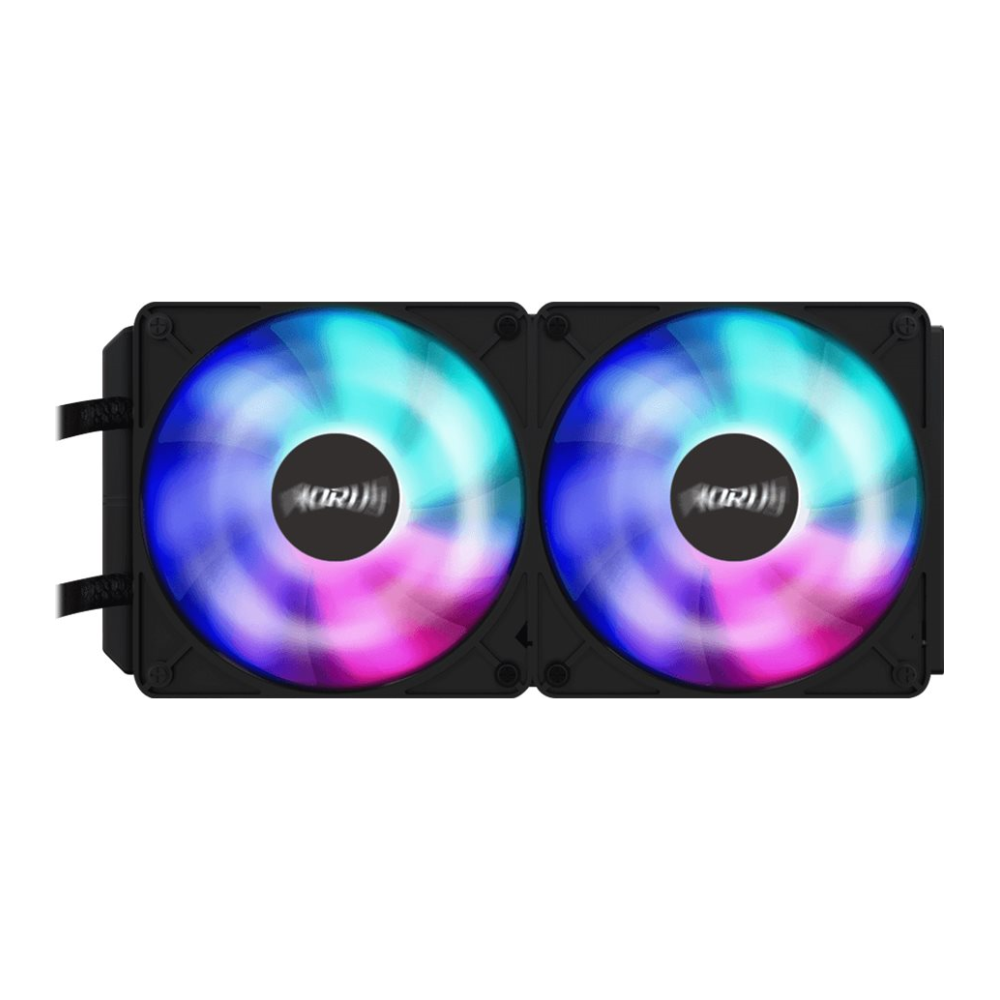 A large main feature product image of Gigabyte GeForce RTX2080 SUPER XTREME WATERFORCE 8GB GDDR6