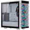 A small tile product image of Corsair iCue 465X RGB Smart White Mid Tower Case