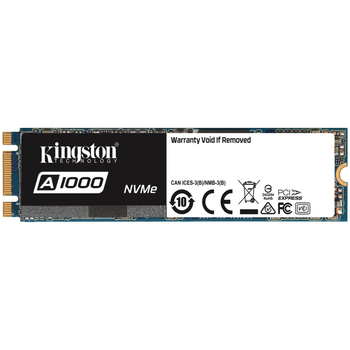 Product image of Kingston A1000 480GB NVMe M.2 SSD - Click for product page of Kingston A1000 480GB NVMe M.2 SSD