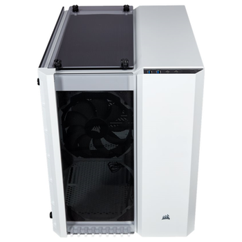 Product image of Corsair Crystal 280X White mATX Case w/Tempered Glass Side Panel - Click for product page of Corsair Crystal 280X White mATX Case w/Tempered Glass Side Panel