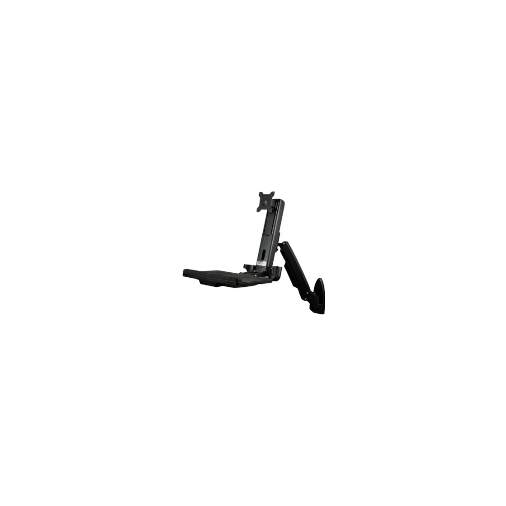 """A large main feature product image of Startech Wall Mounted Sit Stand Desk - for Single Monitor up to 24"""""""