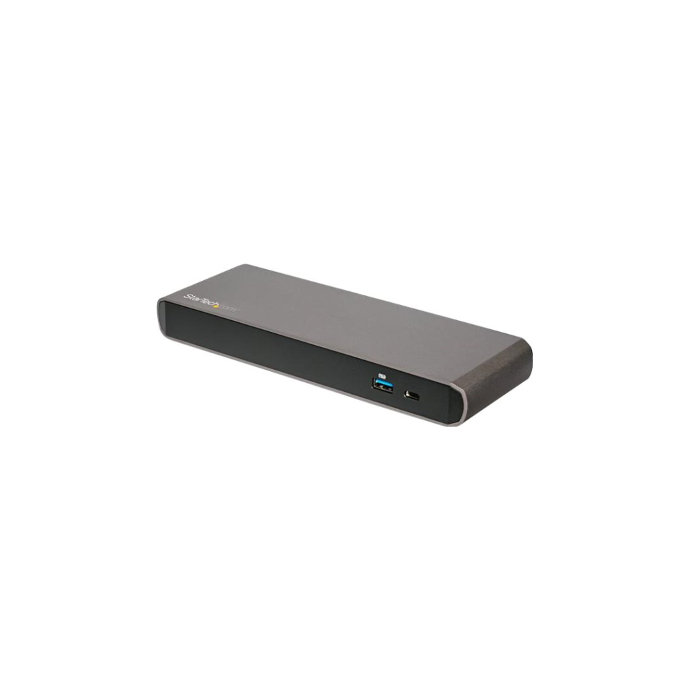 A large main feature product image of Startech Dual 4K Thunderbolt 3 Dock, Mac/Windows - 85W Power Delivery