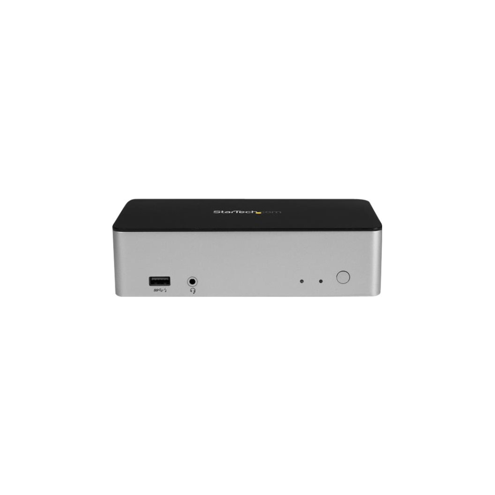 "A large main feature product image of Startech Dual DisplayPort USB C Dock - 2.5"" SATA SSD/HDD Bay, MST, PD"
