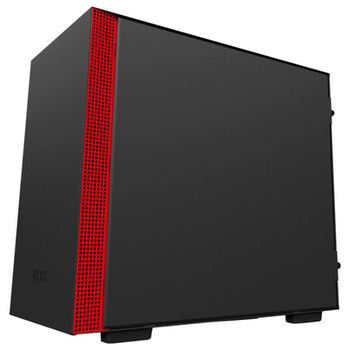 Product image of NZXT H200 Matte Black/Red mITX Gaming Case - Click for product page of NZXT H200 Matte Black/Red mITX Gaming Case