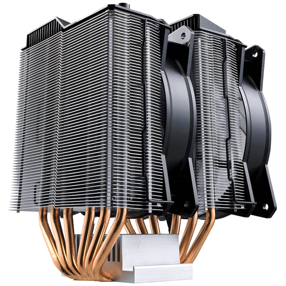 A large main feature product image of Cooler Master MasterAir MA620P RGB CPU Cooler