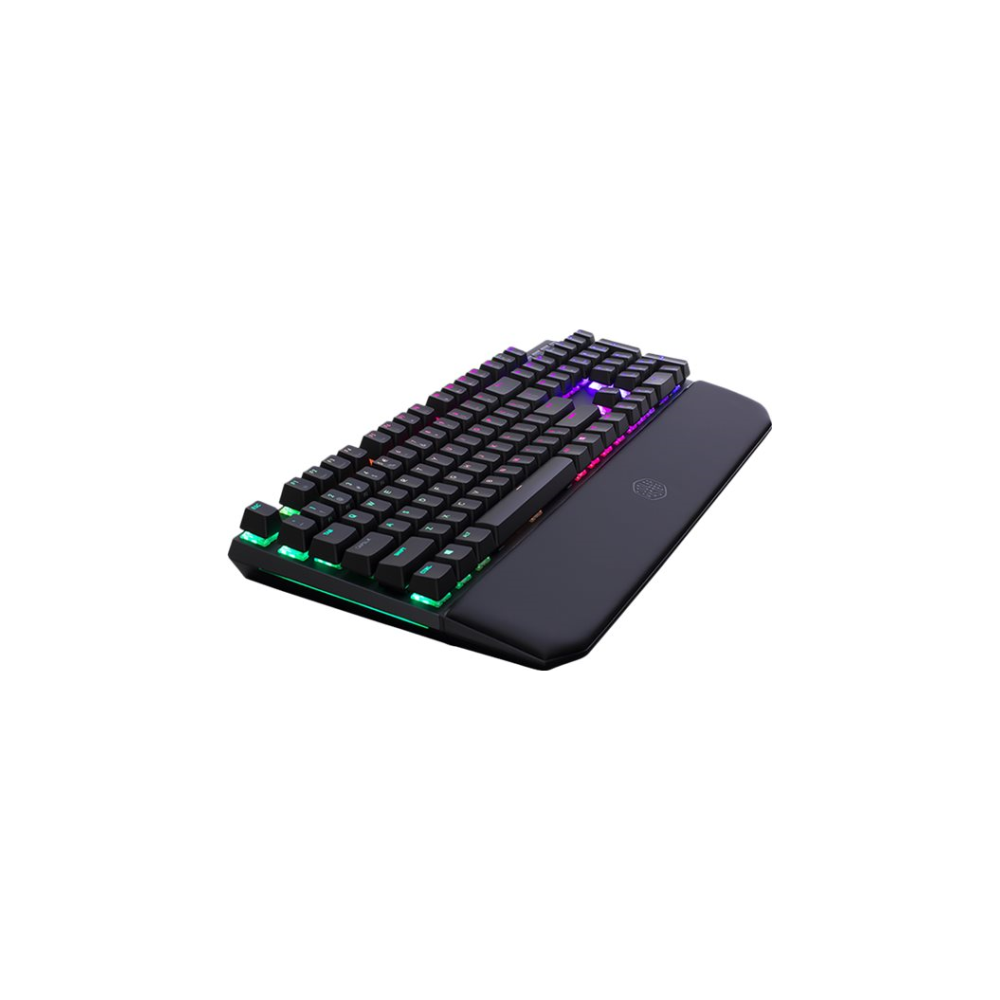A large main feature product image of Cooler Master MasterKeys MK750 RGB Mechanical Keyboard (MX Brown)