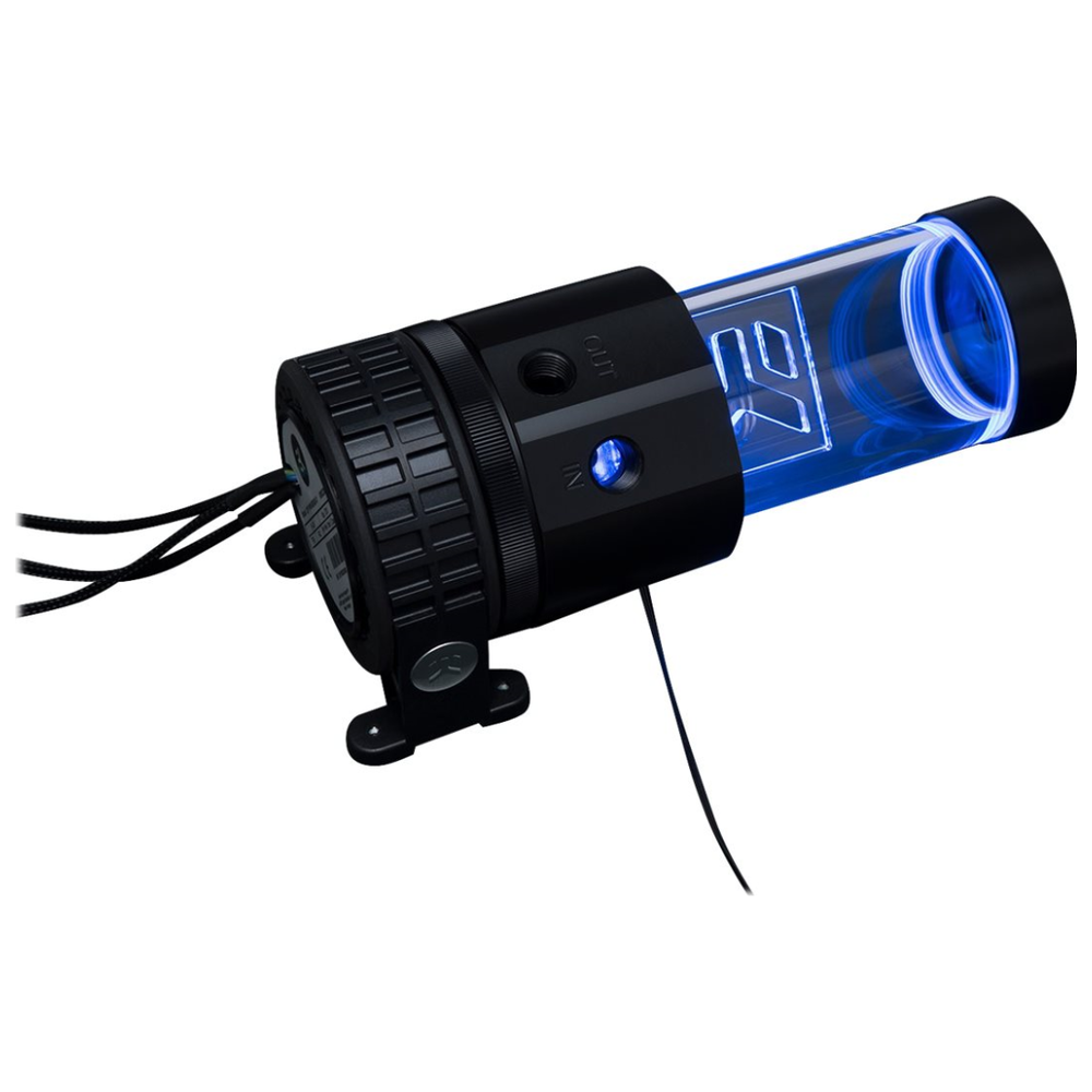 A large main feature product image of EK X-RES 140 Revo D5 RGB PWM (incl. Sleeved Pump)