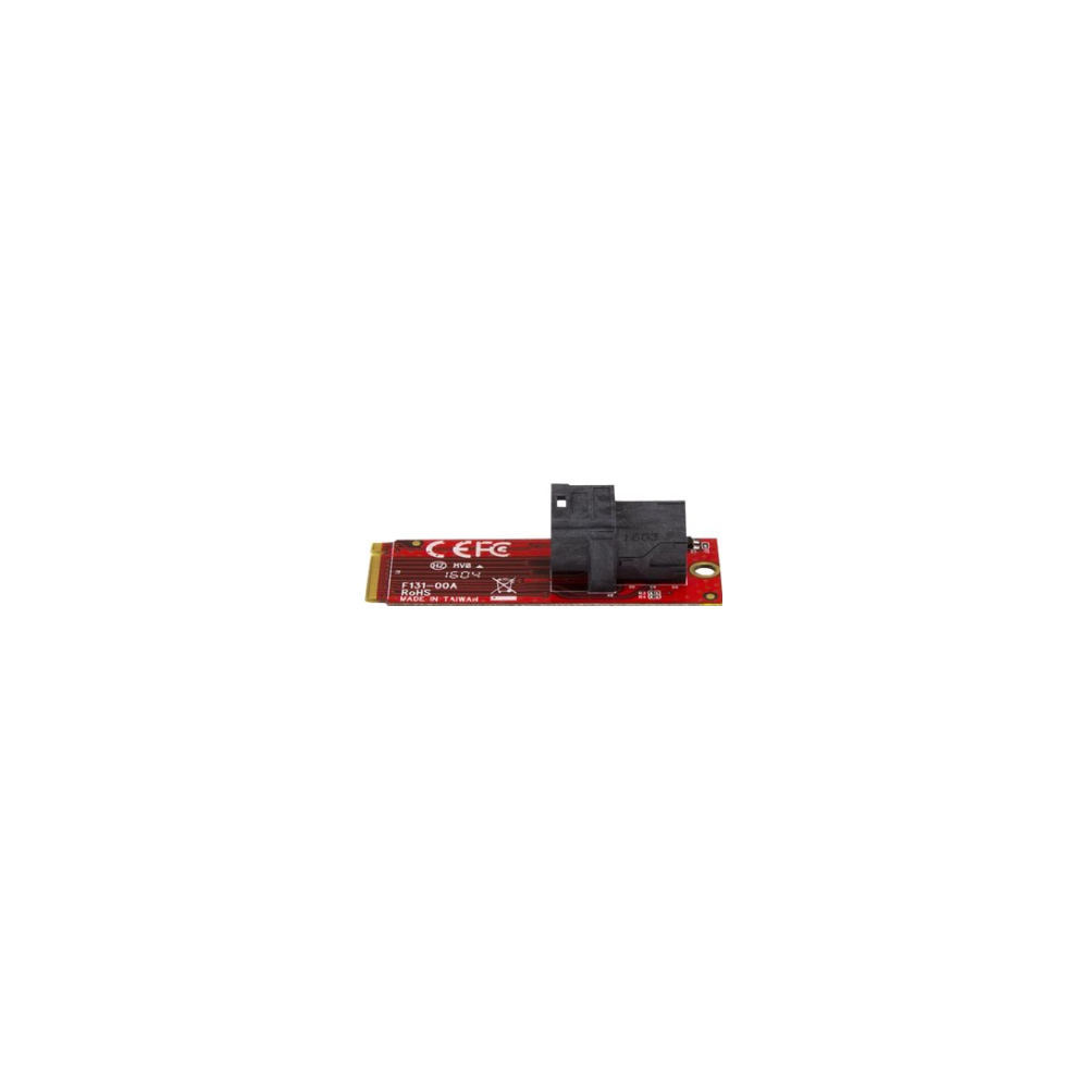 A large main feature product image of Startech U.2 to M.2 Adapter for U.2 NVMe SSD - M.2 PCIe x4 Host
