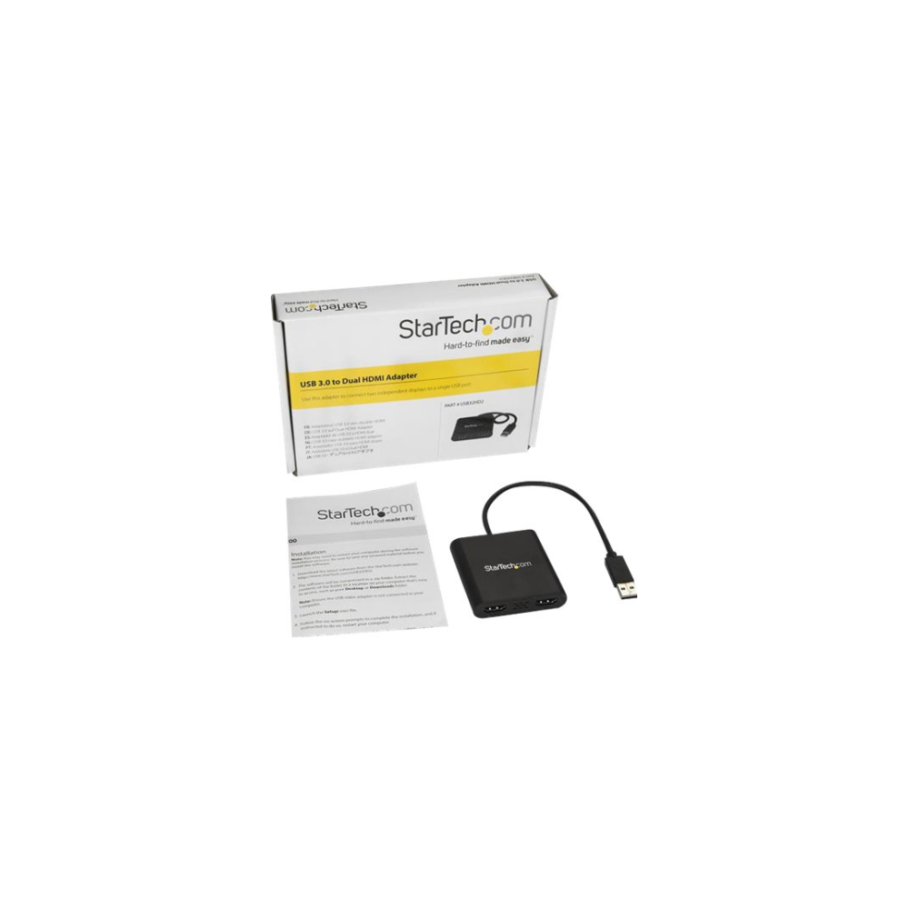 A large main feature product image of Startech USB 3.0 to Dual HDMI Adapter - HDMI USB Adapter - USB HDMI