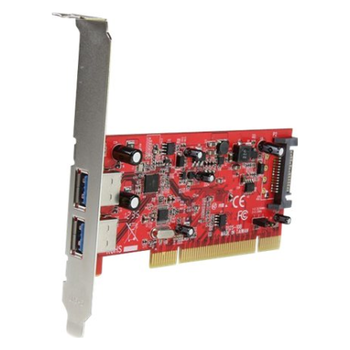 Product image of Startech 2 Port PCI USB 3.0 Card w/ SATA Power - Click for product page of Startech 2 Port PCI USB 3.0 Card w/ SATA Power