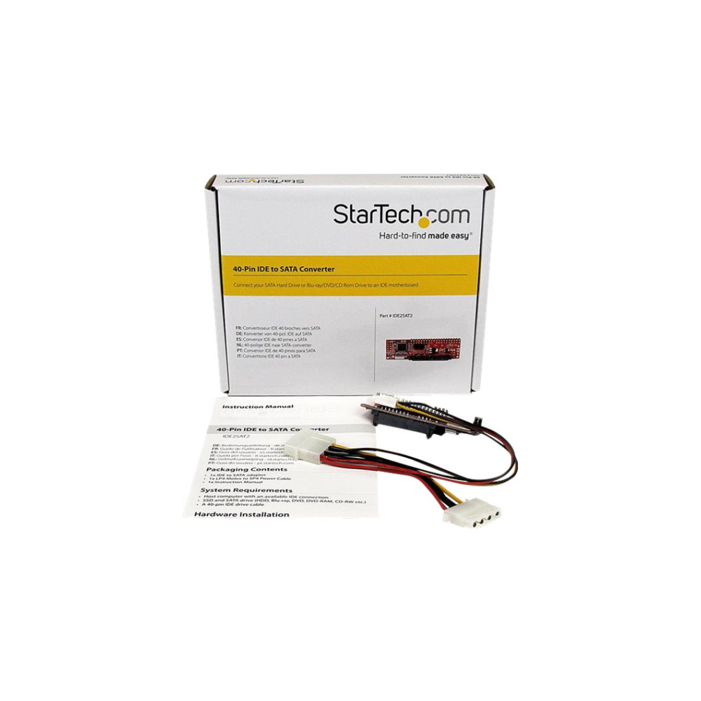 A large main feature product image of Startech 40-Pin IDE to SATA Adapter Converter