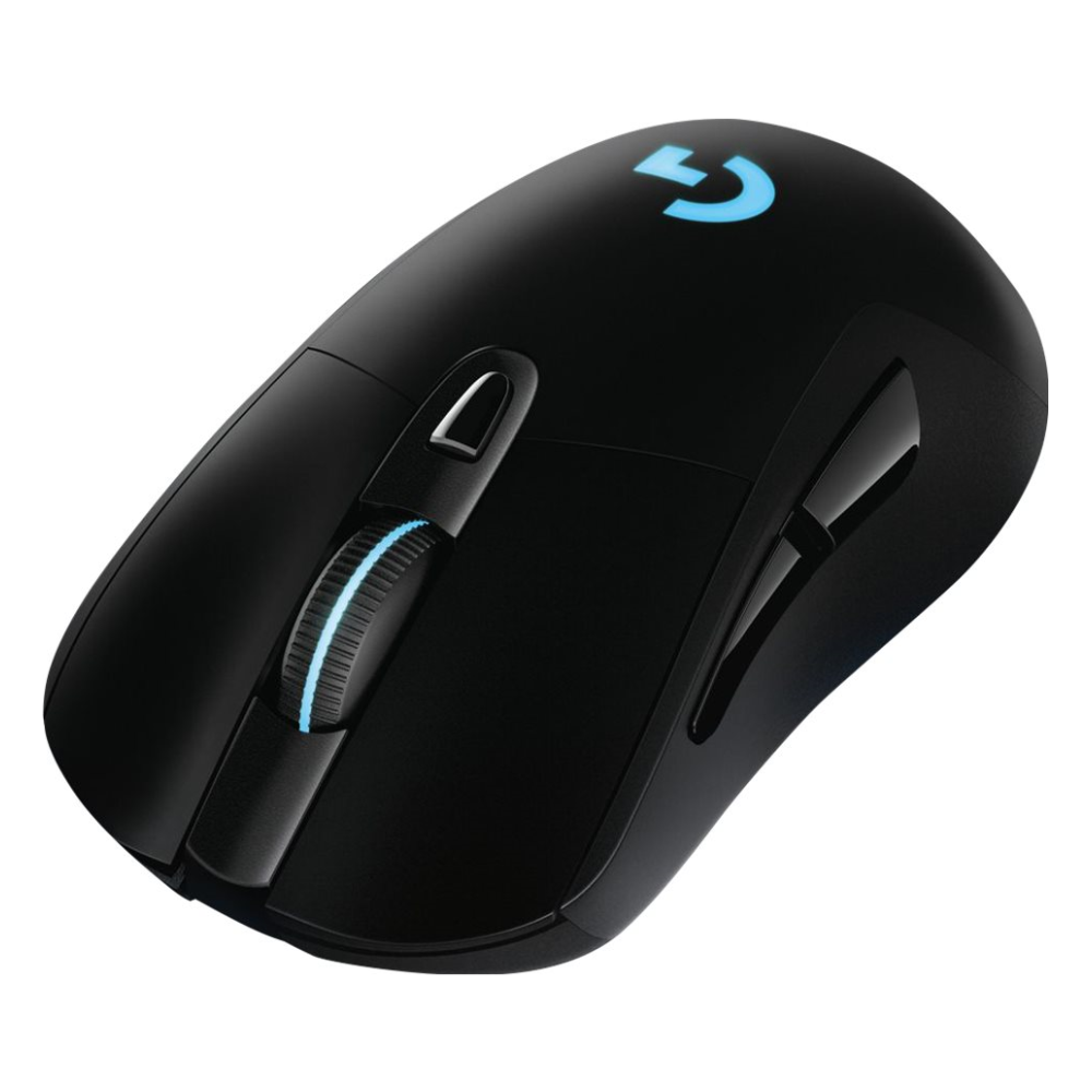 A large main feature product image of Logitech G703 HERO LIGHTSPEED Cordless Optical Gaming Mouse Black