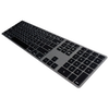 A product image of Matias Space Grey Aluminium Keyboard For Mac