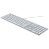 A product image of Matias Silver RGB Backlit Wired Aluminum Keyboard for Mac